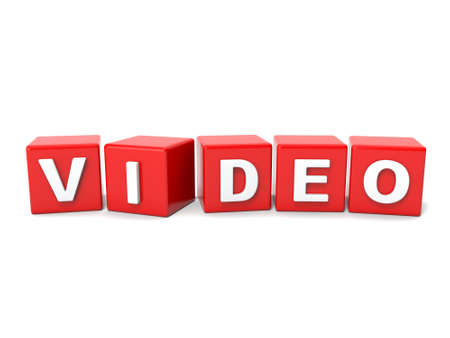 chronicle: Inscription on the cubes of red,video Stock Photo