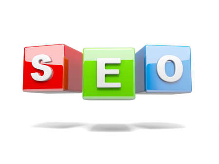 optimizing: Inscription on the cubes of red,seo