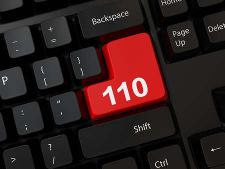 Keyboard with a word 110 Stock Photo - 24849484