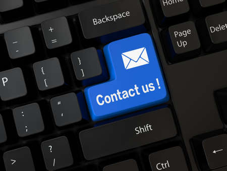 Keyboard with a contact us