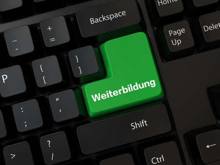 Keyboard with a word Weiterbildung