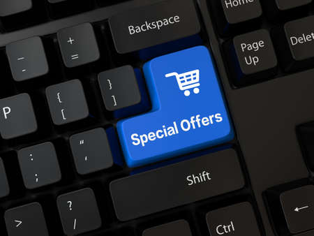 Keyboard with a word Special Offers photo