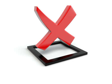 rejected: Rejected sign on white background in 3d