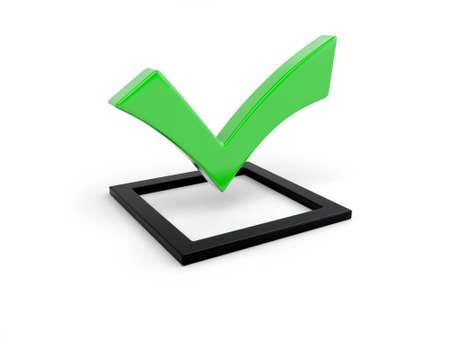 3d green check mark symbol