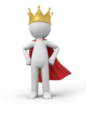 Un peuple 3D avec une couronne