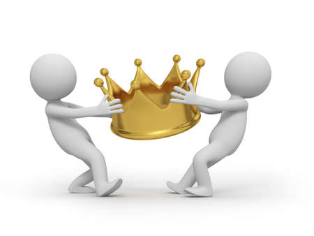 Two people are competing for a crown