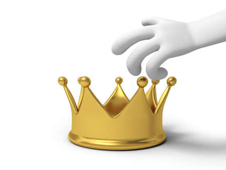 A hand will hold a crown photo