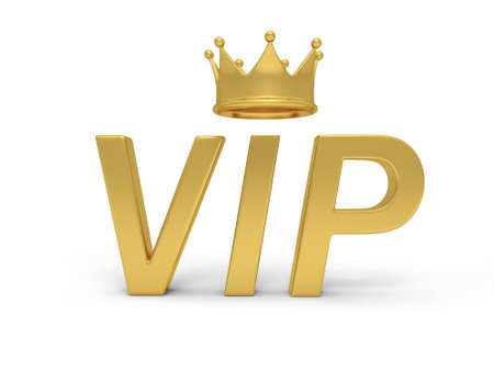 Gold Vip with a crown photo