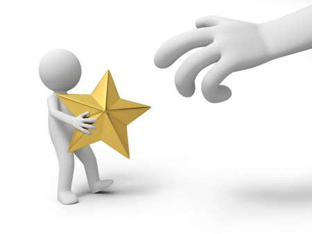 robbing:  A big hand robbing a gold star