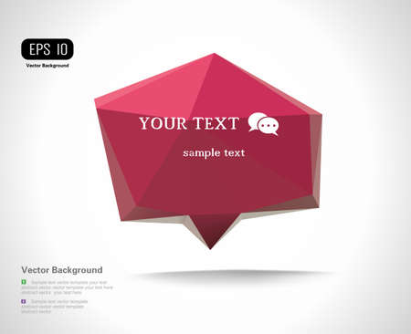 Modern Design Layout, Speech bubble Vector