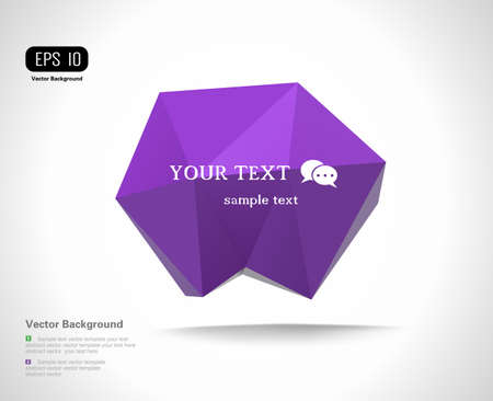 Modern Design Layout, Speech bubble Vector