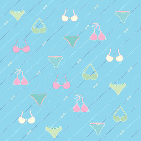 chic panties: Lingerie seamless pattern Vector illustration