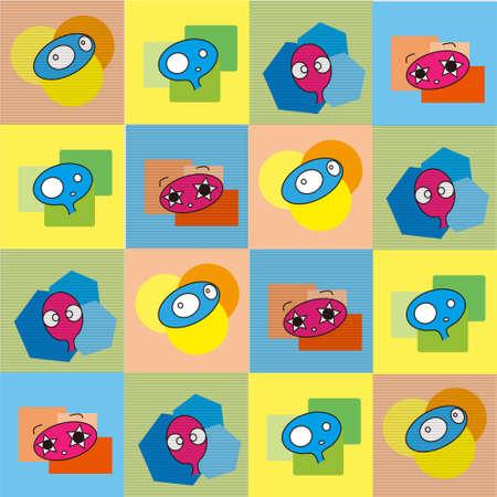 pattern monster: modello monster design illustrazione vettoriale