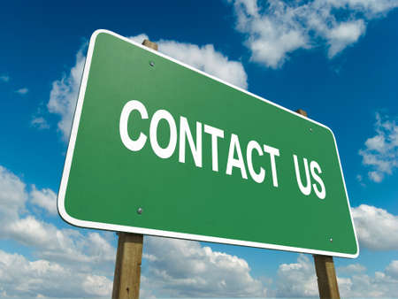 contact us: Road sign to contact us