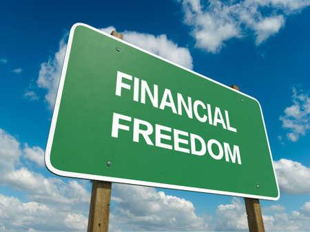 znak drogowy: Znak droga do wolności finansowej