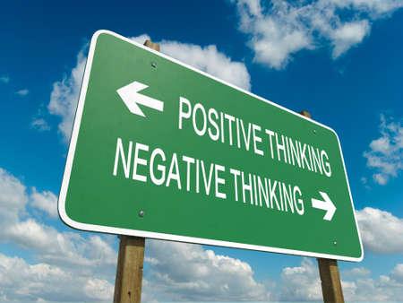 negative thinking: route, signe � la pens�e positive ou n�gative