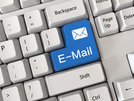 Keyboard with a text email