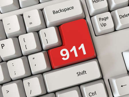 Keyboard with a word 911 photo