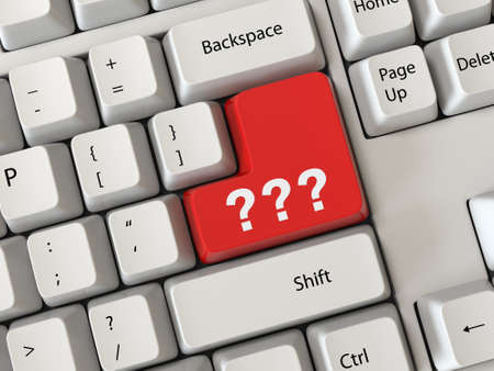 Keyboard with a Question mark photo