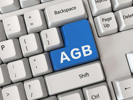 Keyboard with a word AGB Stock Photo