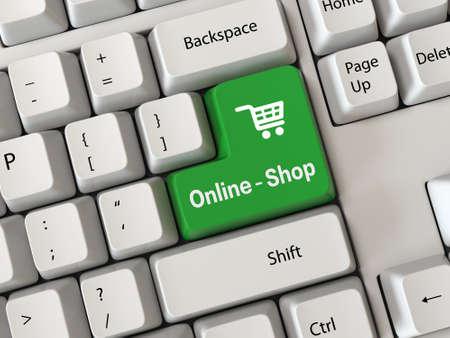 Tastatur mit einem Wort Online-Shop Standard-Bild - 29939264
