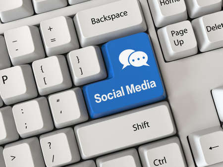 microblogging: Keyboard with a word Social Media