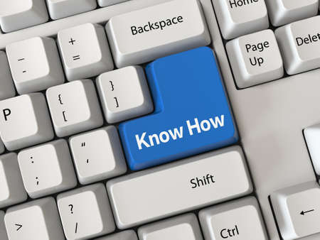 knowhow: Keyboard with a word know how Stock Photo