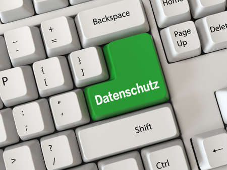 online privacy: Keyboard with a word Datenschutz