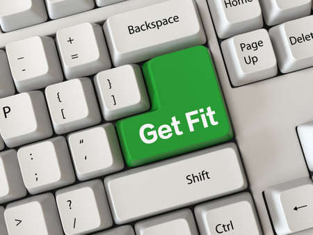 Keyboard with a word get fit photo