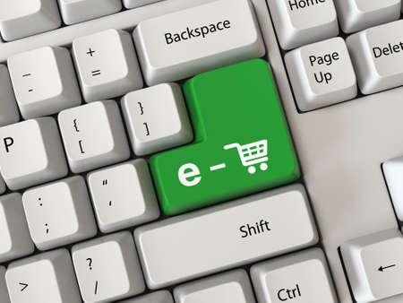 Keyboard mit einem Einkaufs Standard-Bild - 29939584