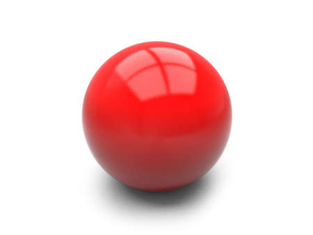 A red ball isolated on white background