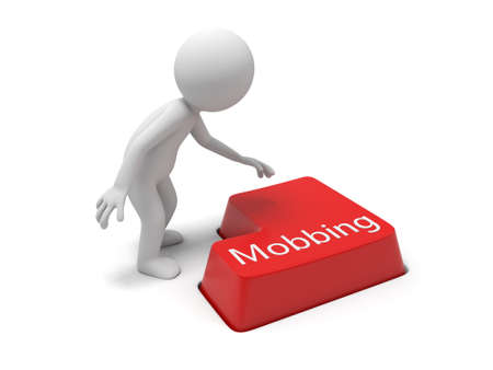 Keyboard with a word Mobbing photo