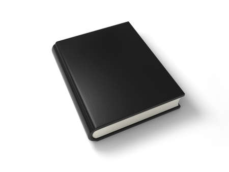 A black book  Isolated on White Background photo
