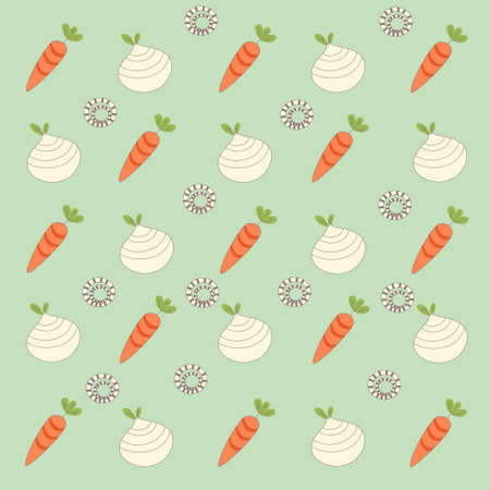 old fashioned vegetables: seamless pattern background with root veggies in vector Illustration