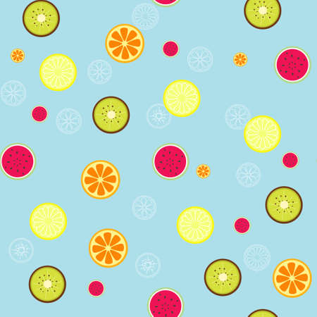seamless pattern background with fruit in vector Vector