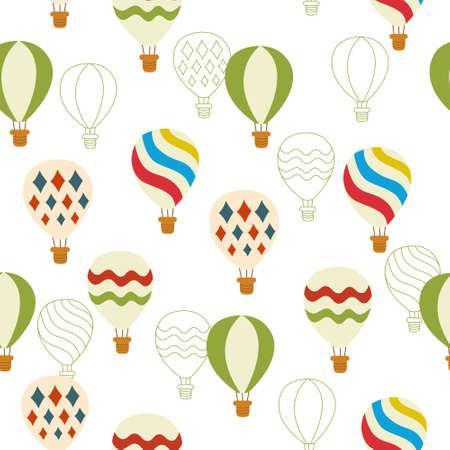 mid air: sin problemas de fondo con globos de colores calientes en el vector Vectores