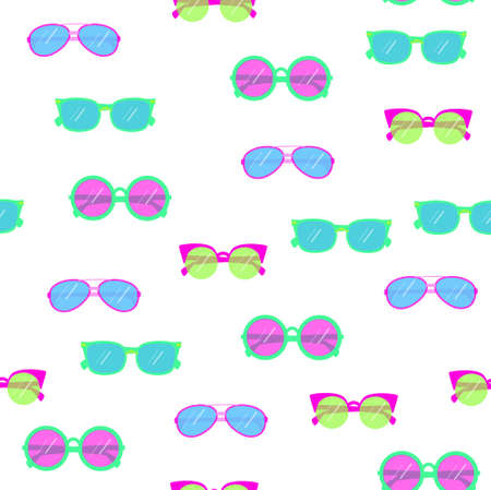 beach wrap: seamless pattern background with sunglasses in vector