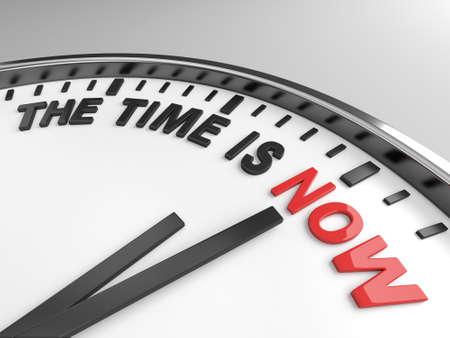 Reloj con palabras El Tiempo es Ahora en su cara