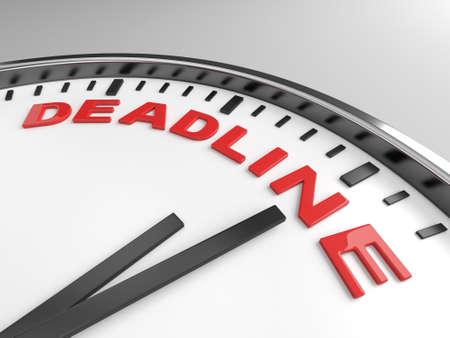 Clock with words deadline on its face Banco de Imagens