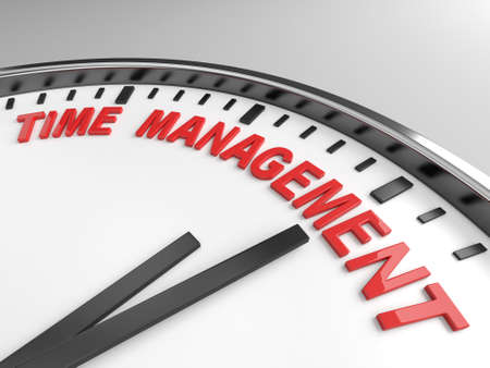 memorize: Clock with words time management on its face Stock Photo