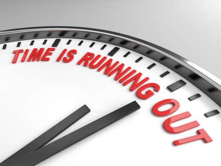 el tiempo: Reloj con palabras tiempo se acaba en su cara