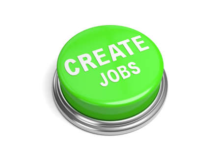 A green button with the word create jobs on it business, photo