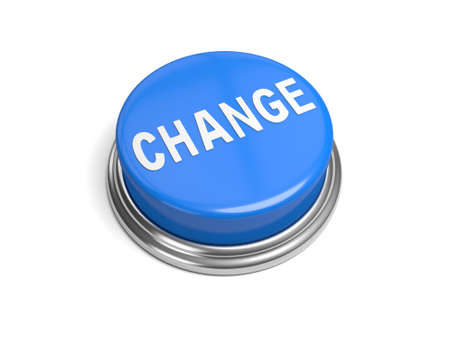 it business: A blue button with the word change on it business,