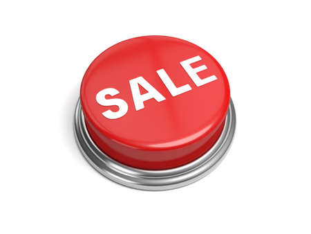 priced: A red button with the word sale on it business, Stock Photo