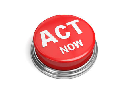 A red button with the word act now on it photo