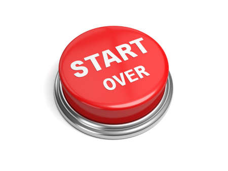 revive: A red button with the word start over on it