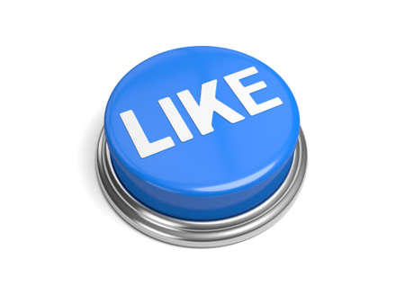 A blue button with the word like on it