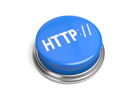 microblogging: A blue button with the word http on it