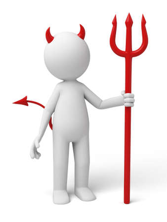 devil with a trident. 3d image. Isolated white background photo
