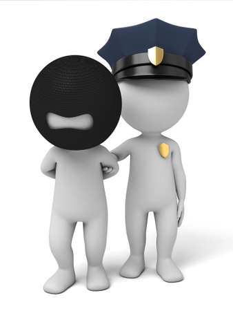 patrolman: 3d policeman arrest a thief